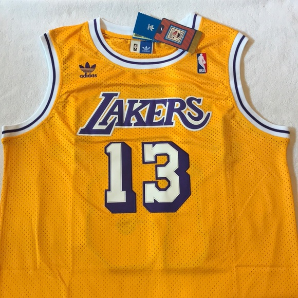 finest selection 6c132 62607 Throwback, Wilt Chamberlain LA Lakers Jersey NWT